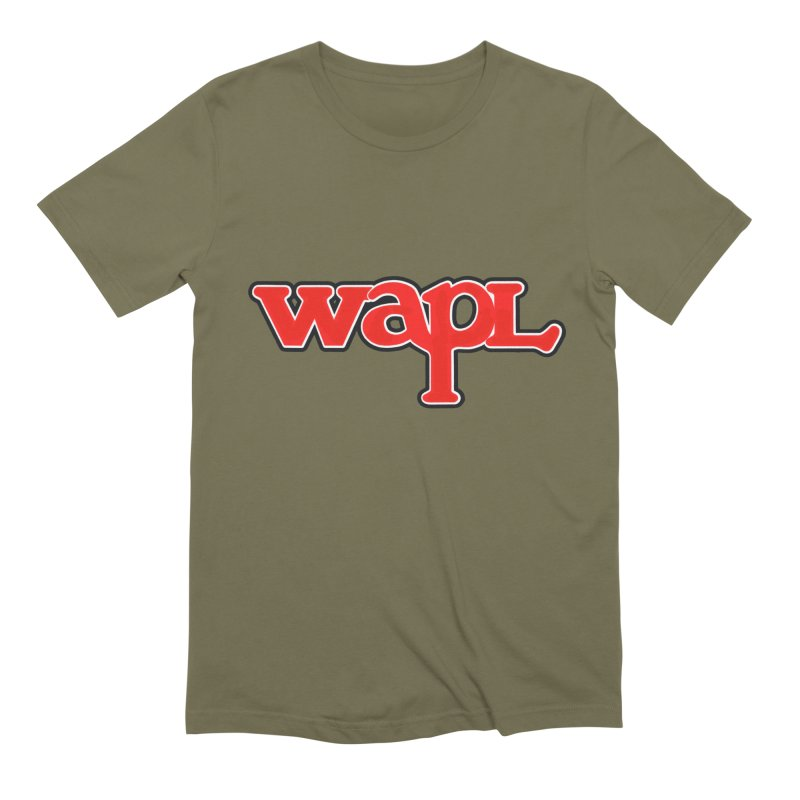WAPL 80s [Call Letters Only] Men's Extra Soft T-Shirt by 105.7 WAPL Web Store