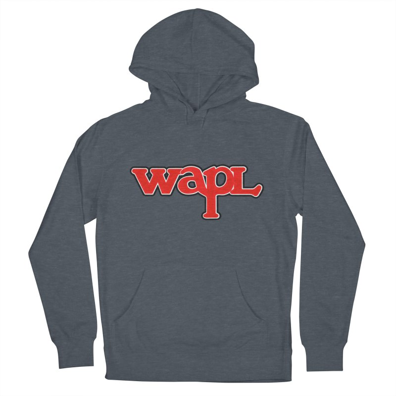 WAPL 80s [Call Letters Only] Men's French Terry Pullover Hoody by 105.7 WAPL Web Store