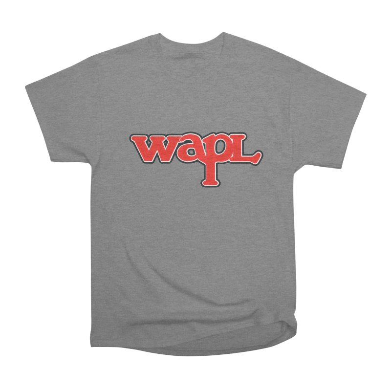 WAPL 80s [Call Letters Only] Men's Heavyweight T-Shirt by 105.7 WAPL Web Store