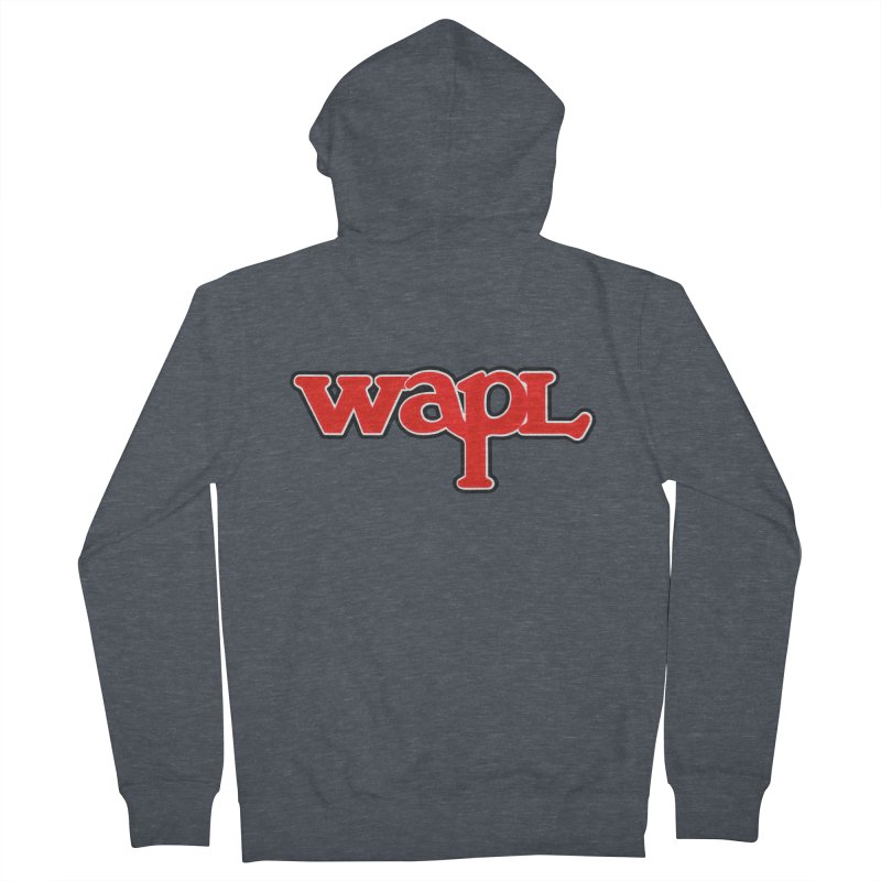 WAPL 80s [Call Letters Only] Women's French Terry Zip-Up Hoody by 105.7 WAPL Web Store