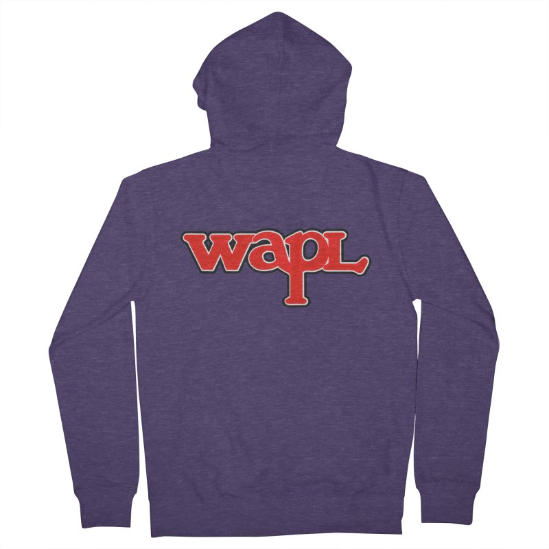 WAPL 80s [Call Letters Only] Men's French Terry Zip-Up Hoody by 105.7 WAPL Web Store