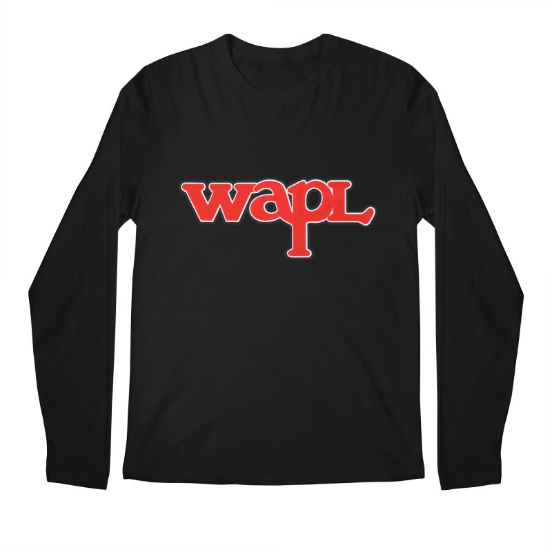 WAPL 80s [Call Letters Only] Men's Regular Longsleeve T-Shirt by 105.7 WAPL Web Store