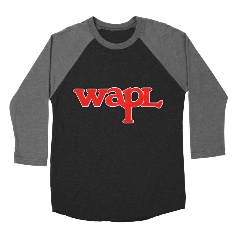 WAPL 80s [Call Letters Only] Women's Baseball Triblend Longsleeve T-Shirt by 105.7 WAPL Web Store