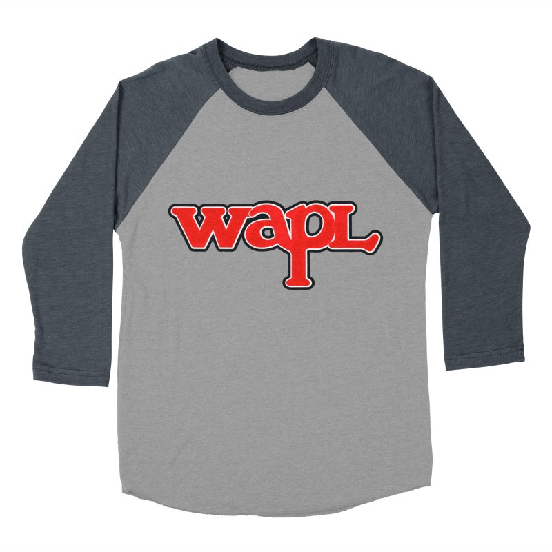 WAPL 80s [Call Letters Only] Men's Baseball Triblend Longsleeve T-Shirt by 105.7 WAPL Web Store