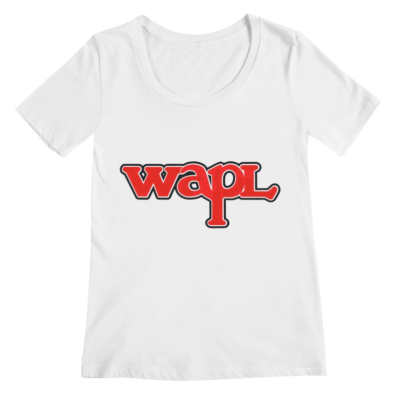WAPL 80s [Call Letters Only] Women's Regular Scoop Neck by 105.7 WAPL Web Store