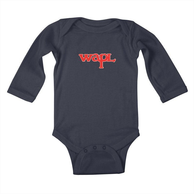 WAPL 80s [Call Letters Only] Kids Baby Longsleeve Bodysuit by 105.7 WAPL Store