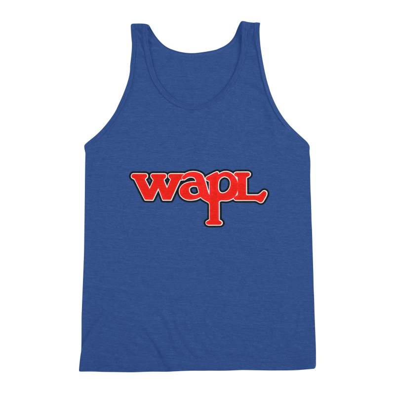 WAPL 80s [Call Letters Only] Men's Triblend Tank by 105.7 WAPL Web Store