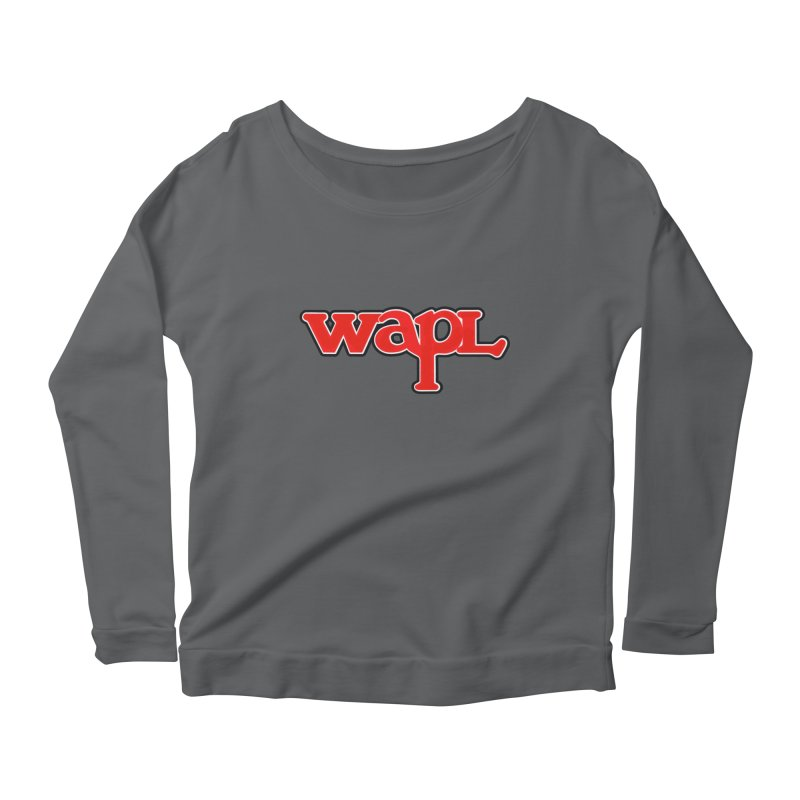 WAPL 80s [Call Letters Only] Women's Scoop Neck Longsleeve T-Shirt by 105.7 WAPL Web Store
