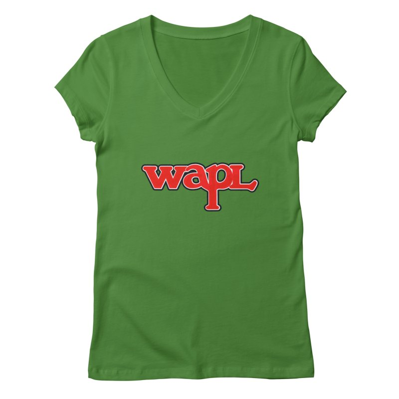 WAPL 80s [Call Letters Only] Women's Regular V-Neck by 105.7 WAPL Web Store