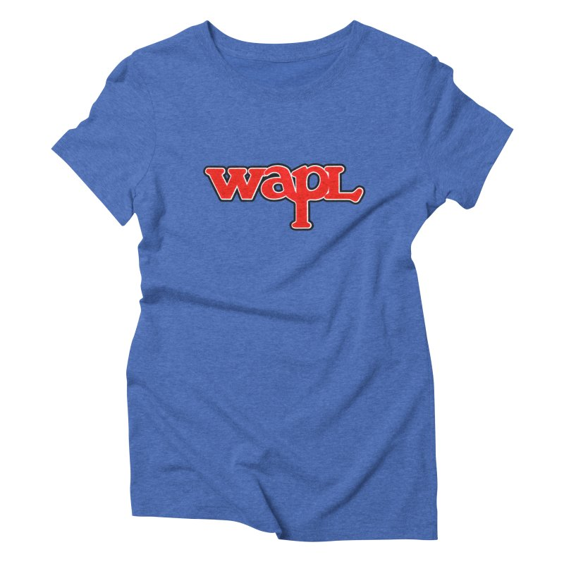 WAPL 80s [Call Letters Only] Women's Triblend T-Shirt by 105.7 WAPL Web Store
