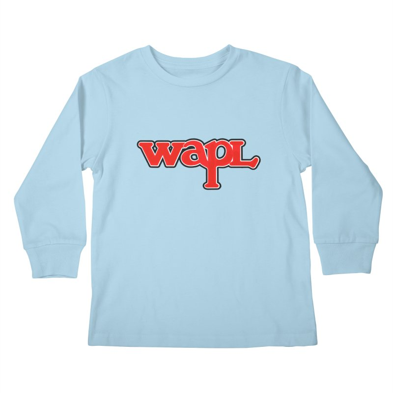 WAPL 80s [Call Letters Only] Kids Longsleeve T-Shirt by 105.7 WAPL Web Store