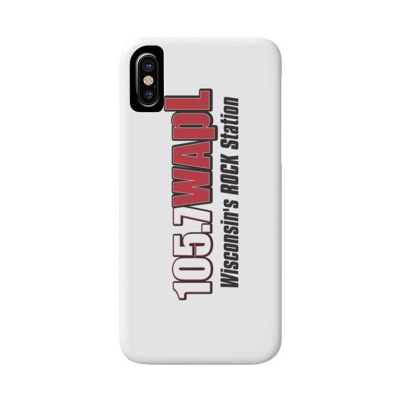 WAPL Horizontal Logo [Black Lettering] Accessories Phone Case by 105.7 WAPL Web Store