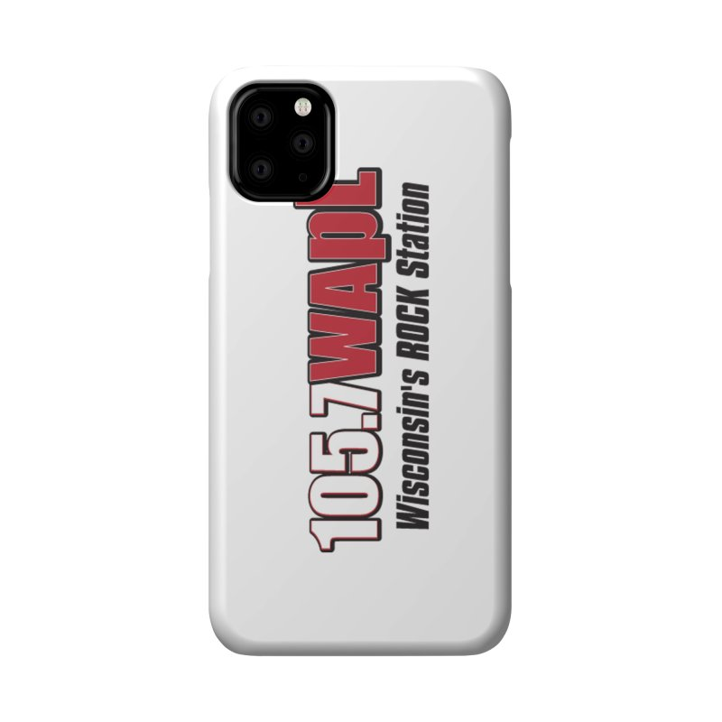 WAPL Horizontal Logo [Black Lettering] Accessories Phone Case by 105.7 WAPL Web Store