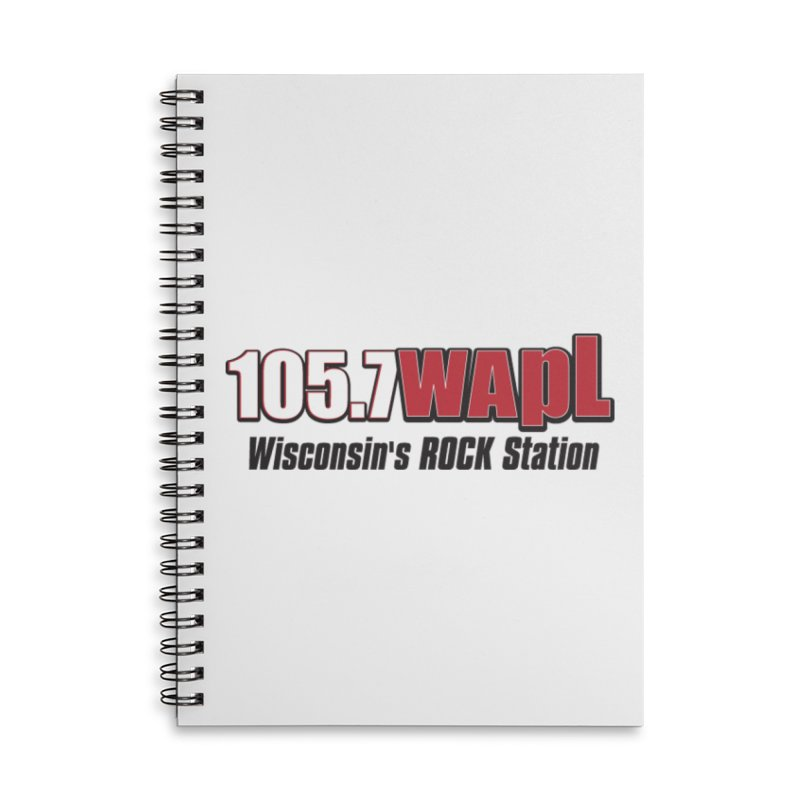 WAPL Horizontal Logo [Black Lettering] Accessories Lined Spiral Notebook by 105.7 WAPL Web Store