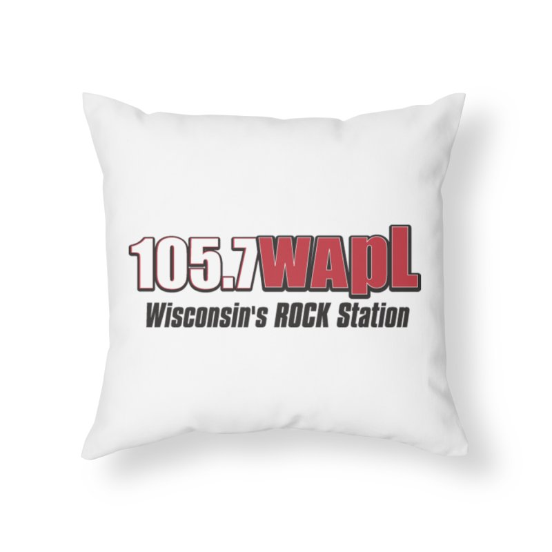 WAPL Horizontal Logo [Black Lettering] Home Throw Pillow by 105.7 WAPL Web Store