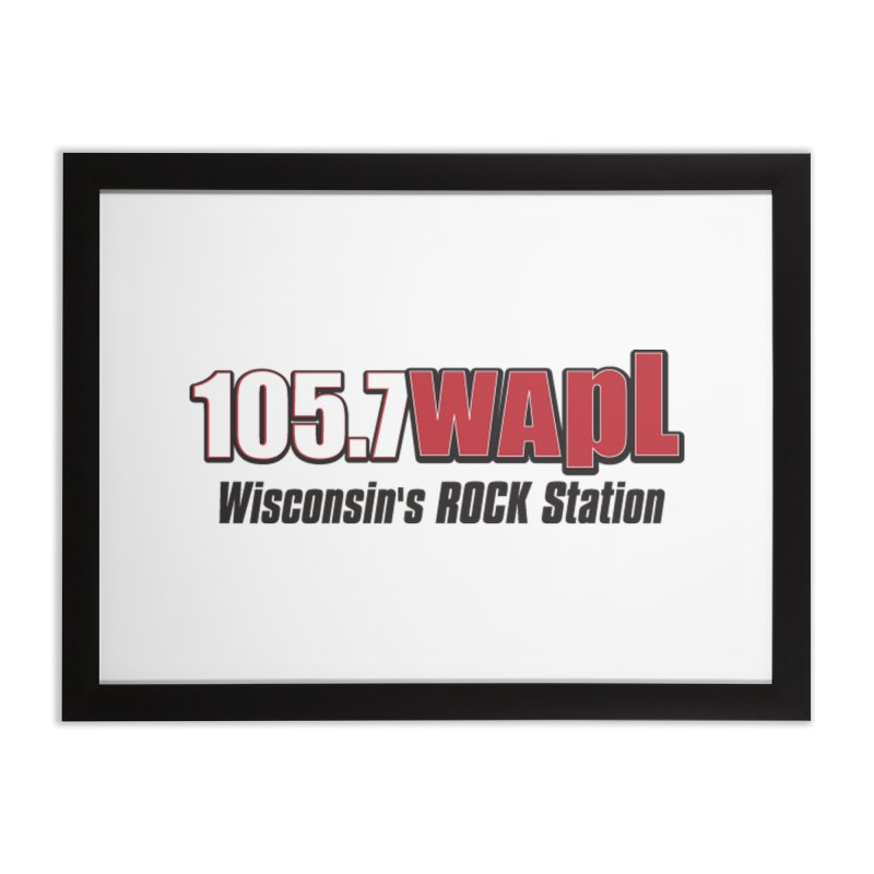 WAPL Horizontal Logo [Black Lettering] Home Framed Fine Art Print by 105.7 WAPL Web Store