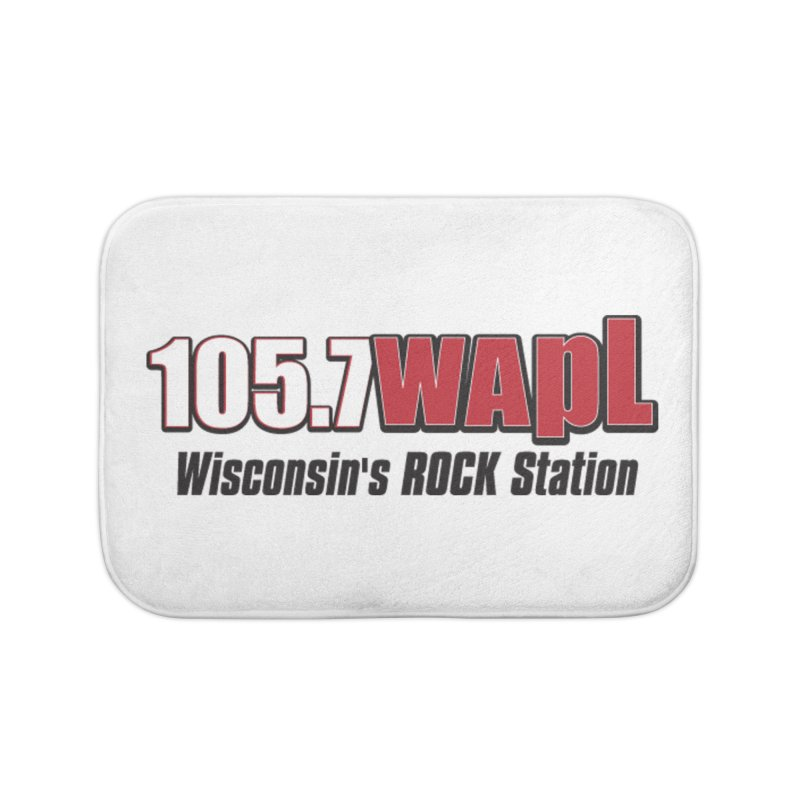 WAPL Horizontal Logo [Black Lettering] Home Bath Mat by 105.7 WAPL Web Store