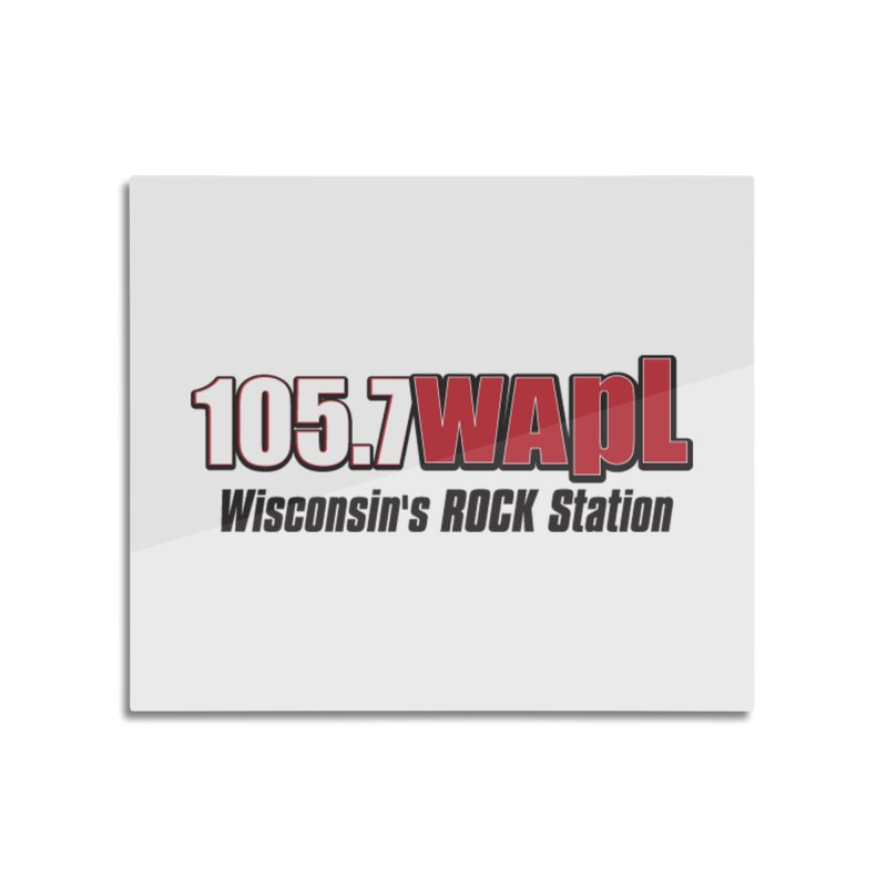 WAPL Horizontal Logo [Black Lettering] Home Mounted Aluminum Print by 105.7 WAPL Web Store