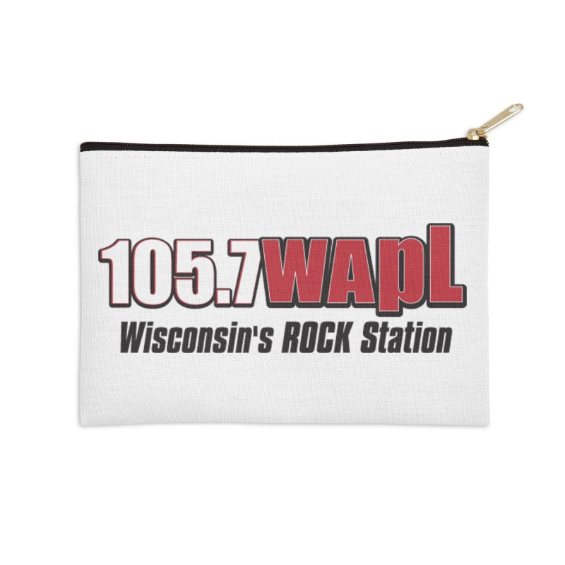 WAPL Horizontal Logo [Black Lettering] Accessories Zip Pouch by 105.7 WAPL Web Store