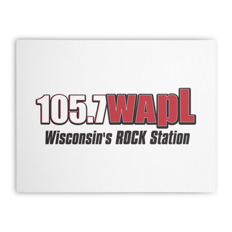 WAPL Horizontal Logo [Black Lettering] Home Stretched Canvas by 105.7 WAPL Web Store