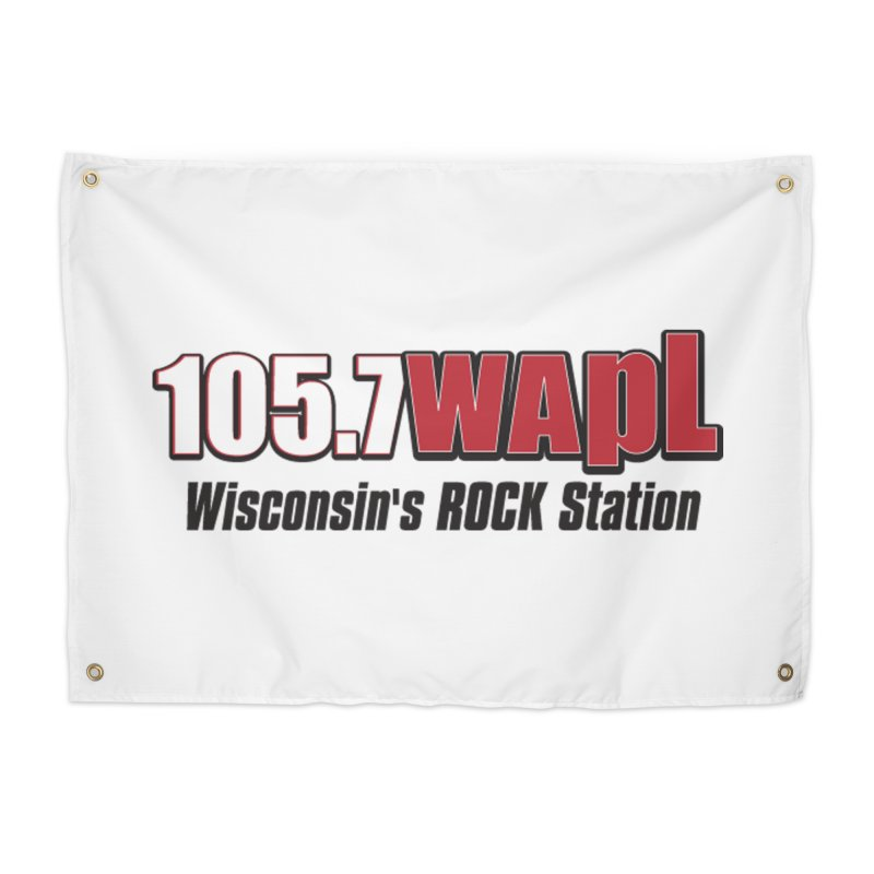 WAPL Horizontal Logo [Black Lettering] Home Tapestry by 105.7 WAPL Store