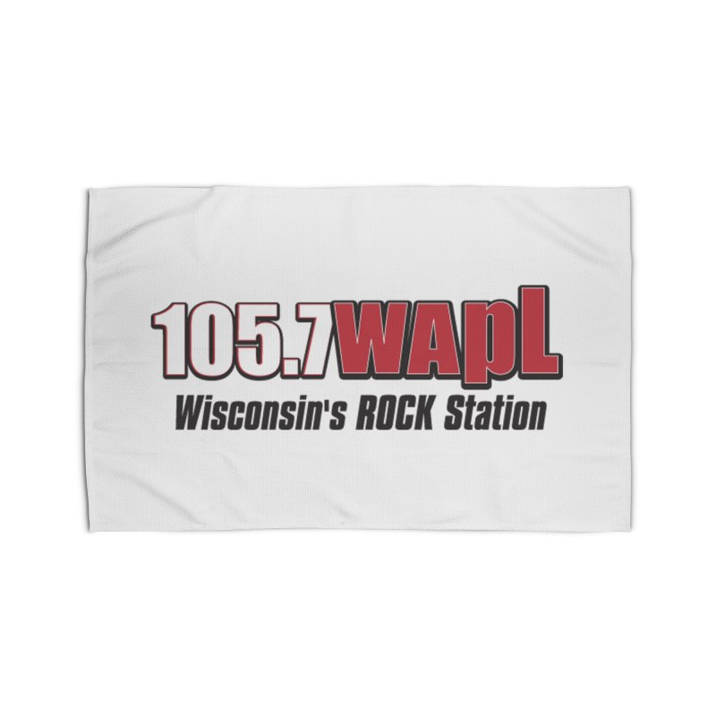 WAPL Horizontal Logo [Black Lettering] Home Rug by 105.7 WAPL Web Store