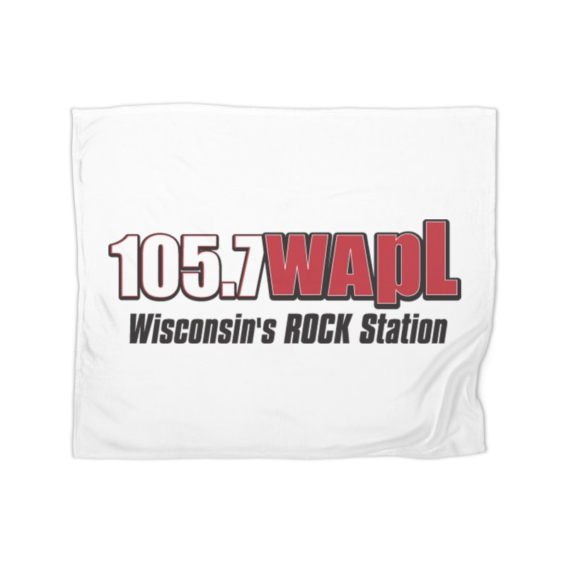 WAPL Horizontal Logo [Black Lettering] Home Fleece Blanket Blanket by 105.7 WAPL Web Store