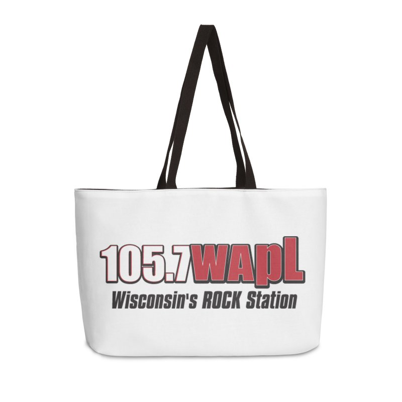 WAPL Horizontal Logo [Black Lettering] Accessories Weekender Bag Bag by 105.7 WAPL Web Store