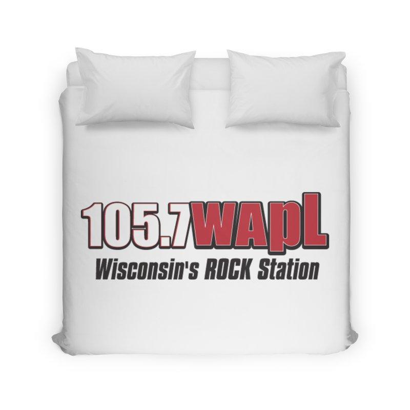 WAPL Horizontal Logo [Black Lettering] Home Duvet by 105.7 WAPL Web Store