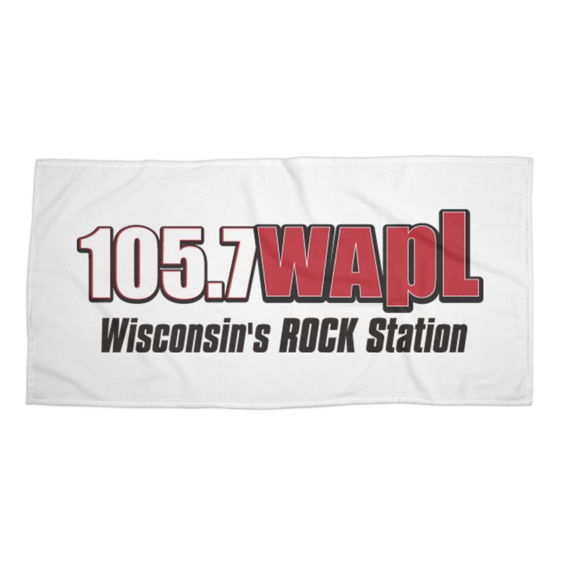 WAPL Horizontal Logo [Black Lettering] Accessories Beach Towel by 105.7 WAPL Web Store