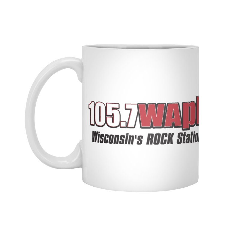 WAPL Horizontal Logo [Black Lettering] Accessories Standard Mug by 105.7 WAPL Web Store