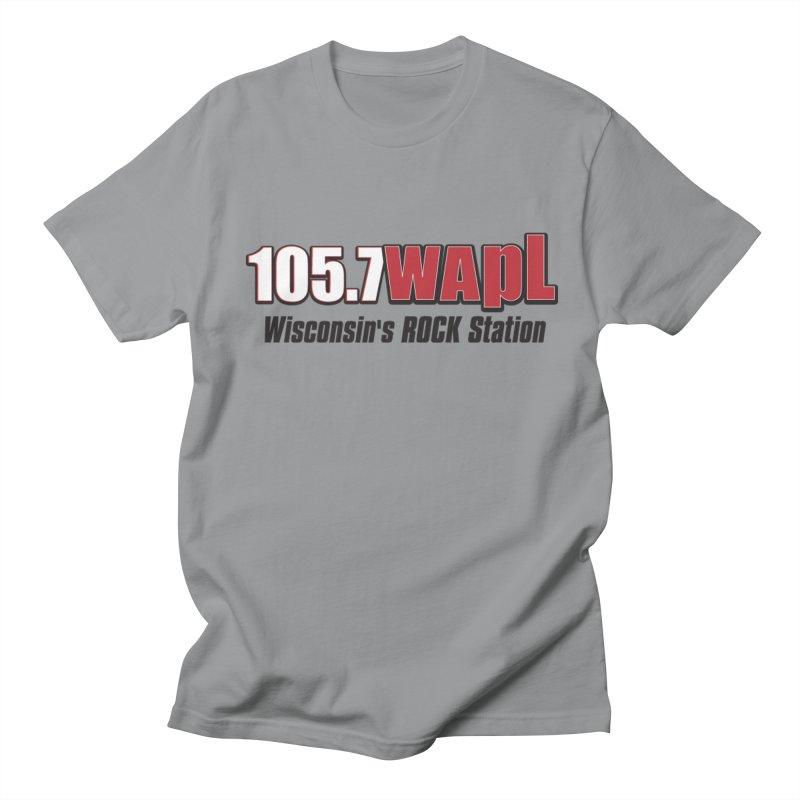 WAPL Horizontal Logo [Black Lettering] Women's Regular Unisex T-Shirt by 105.7 WAPL Web Store