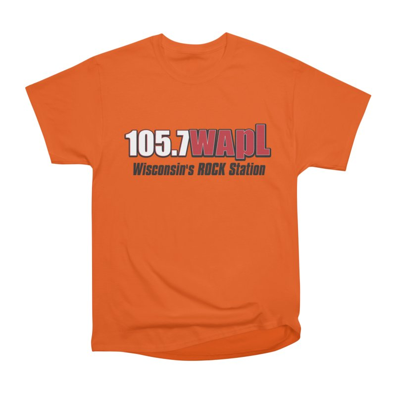 WAPL Horizontal Logo [Black Lettering] Women's Heavyweight Unisex T-Shirt by 105.7 WAPL Web Store
