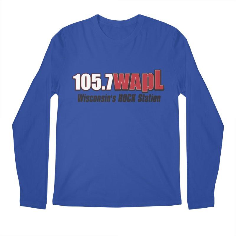 WAPL Horizontal Logo [Black Lettering] Men's Regular Longsleeve T-Shirt by 105.7 WAPL Web Store