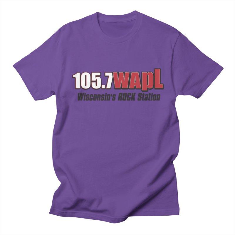 WAPL Horizontal Logo [Black Lettering] Men's Regular T-Shirt by 105.7 WAPL Web Store