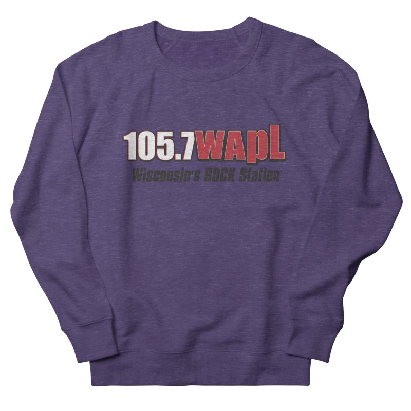 WAPL Horizontal Logo [Black Lettering] Women's French Terry Sweatshirt by 105.7 WAPL Web Store
