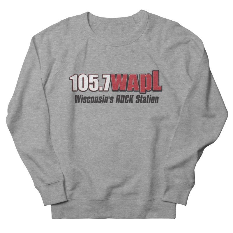 WAPL Horizontal Logo [Black Lettering] Women's French Terry Sweatshirt by 105.7 WAPL Web Store