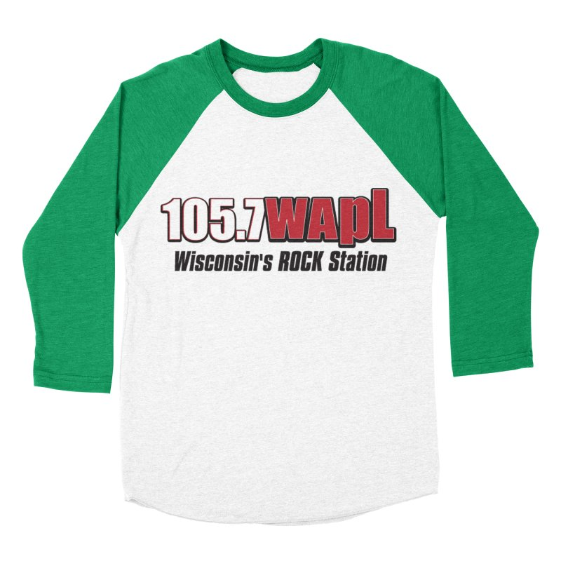 WAPL Horizontal Logo [Black Lettering] Women's Baseball Triblend Longsleeve T-Shirt by 105.7 WAPL Web Store