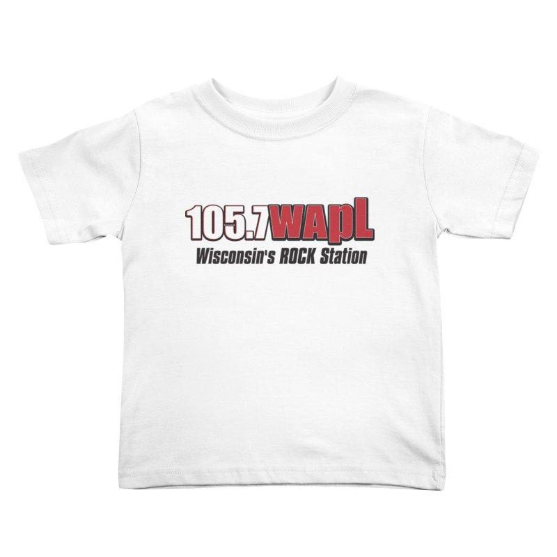WAPL Horizontal Logo [Black Lettering] Kids Toddler T-Shirt by 105.7 WAPL Web Store