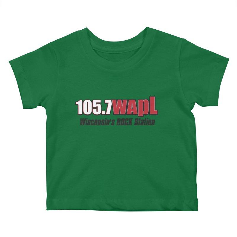 WAPL Horizontal Logo [Black Lettering] Kids Baby T-Shirt by 105.7 WAPL Web Store
