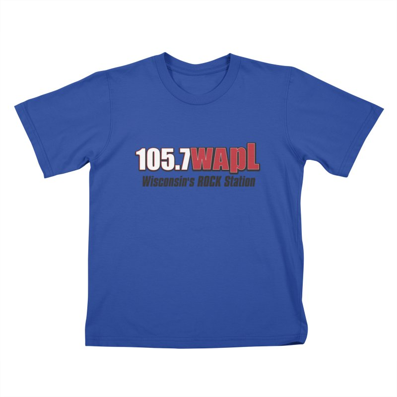 WAPL Horizontal Logo [Black Lettering] Kids T-Shirt by 105.7 WAPL Web Store