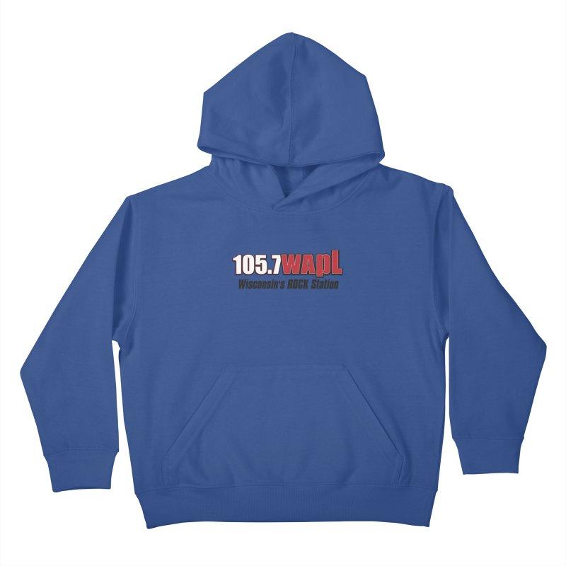 WAPL Horizontal Logo [Black Lettering] Kids Pullover Hoody by 105.7 WAPL Store