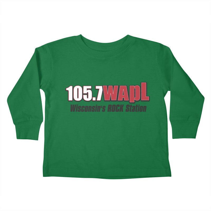 WAPL Horizontal Logo [Black Lettering] Kids Toddler Longsleeve T-Shirt by 105.7 WAPL Web Store