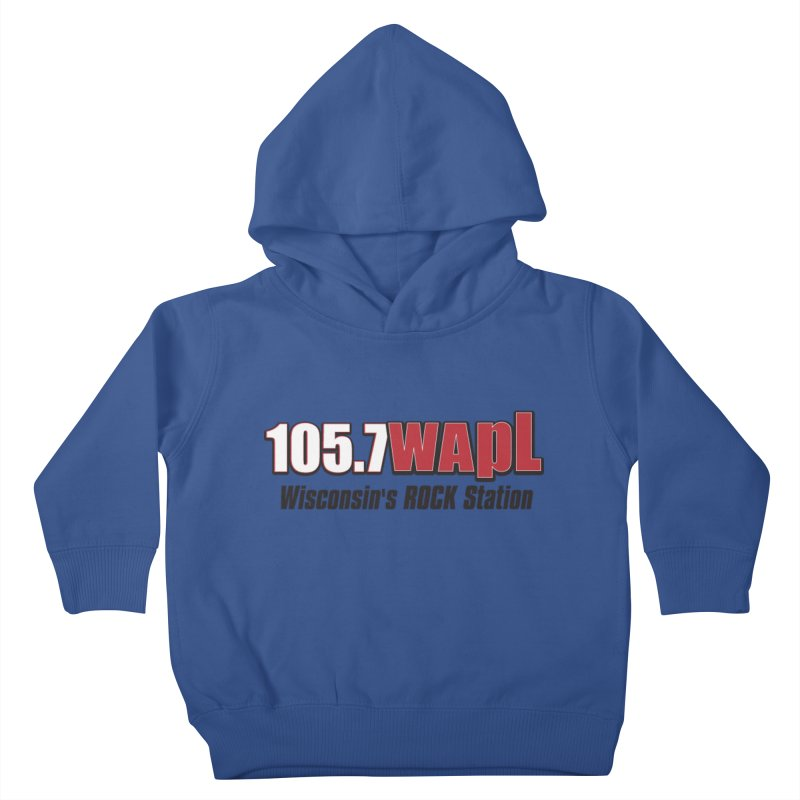 WAPL Horizontal Logo [Black Lettering] Kids Toddler Pullover Hoody by 105.7 WAPL Web Store