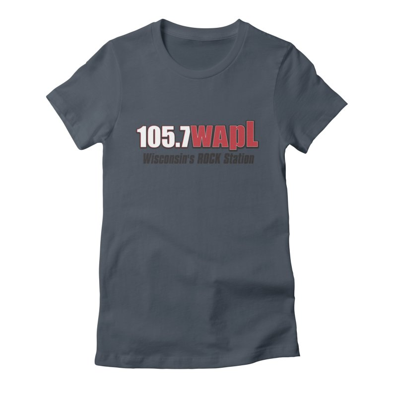 WAPL Horizontal Logo [Black Lettering] Women's T-Shirt by 105.7 WAPL Store