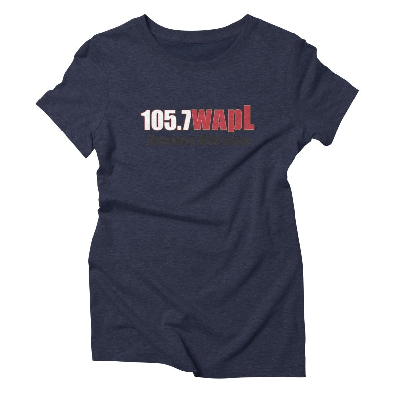 WAPL Horizontal Logo [Black Lettering] Women's Triblend T-Shirt by 105.7 WAPL Web Store