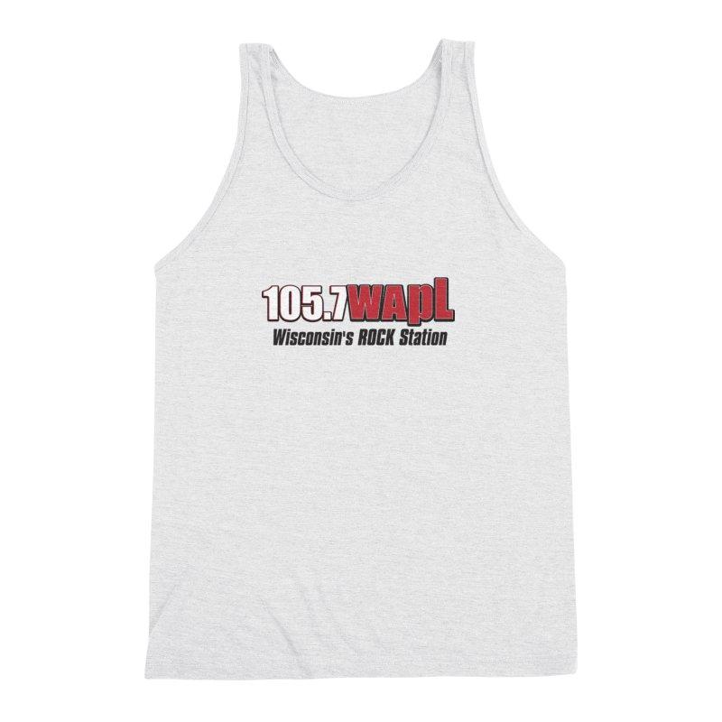WAPL Horizontal Logo [Black Lettering] Men's Triblend Tank by 105.7 WAPL Web Store