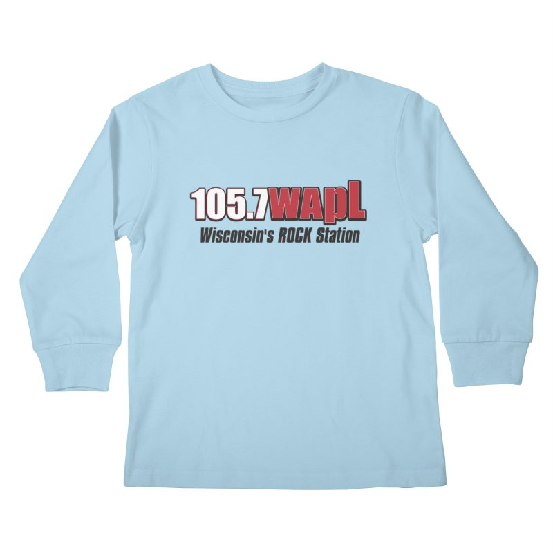 WAPL Horizontal Logo [Black Lettering] Kids Longsleeve T-Shirt by 105.7 WAPL Web Store