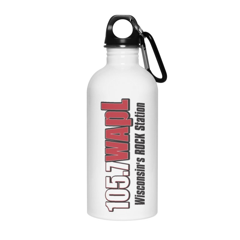 WAPL Horizontal Logo [Black Lettering] Accessories Water Bottle by 105.7 WAPL Web Store