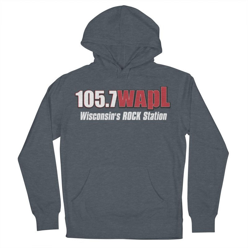 WAPL Horizontal Logo (White Lettering) Women's French Terry Pullover Hoody by 105.7 WAPL Web Store
